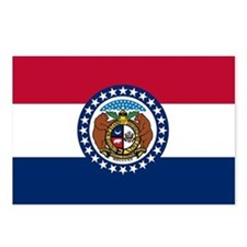 Missouri State Flag Postcards (Package of 8)