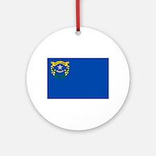Nevada State Flag Ornament (Round)