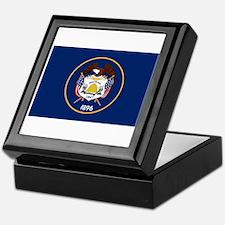 Utah State Flag Keepsake Box
