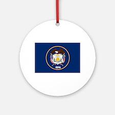 Utah State Flag Ornament (Round)