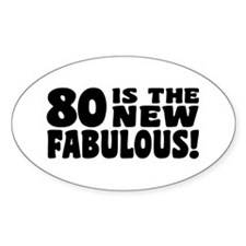 Funny 80th Birthday Decal