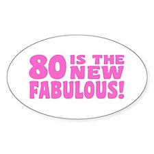 Funny 80th Birthday Decal