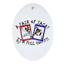 "Jack Russell ""Full House"" Oval Ornament"