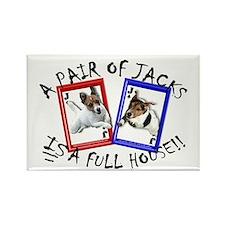 "Jack Russell ""Full House"" Rectangle Magnet"
