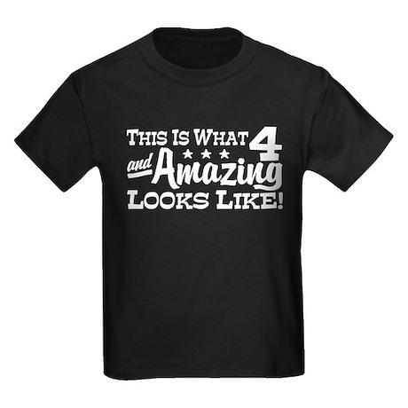 4 Year Old Kids Dark T-Shirt