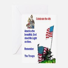 July 4Th Military Greeting Cards (Pk of 10)