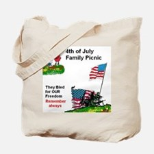 July 4Th Military Tote Bag