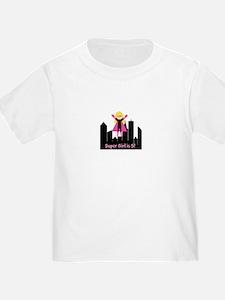 Blond Girl Super Hero CustomToddler T-Shirt