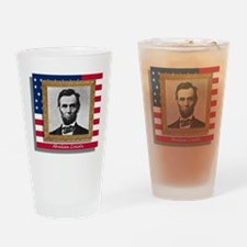 Abraham Lincoln Drinking Glass