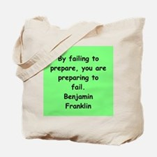ben franklin quotes Tote Bag