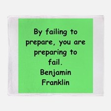 ben franklin quotes Throw Blanket