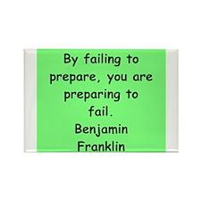 ben franklin quotes Rectangle Magnet (100 pack)