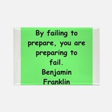 ben franklin quotes Rectangle Magnet