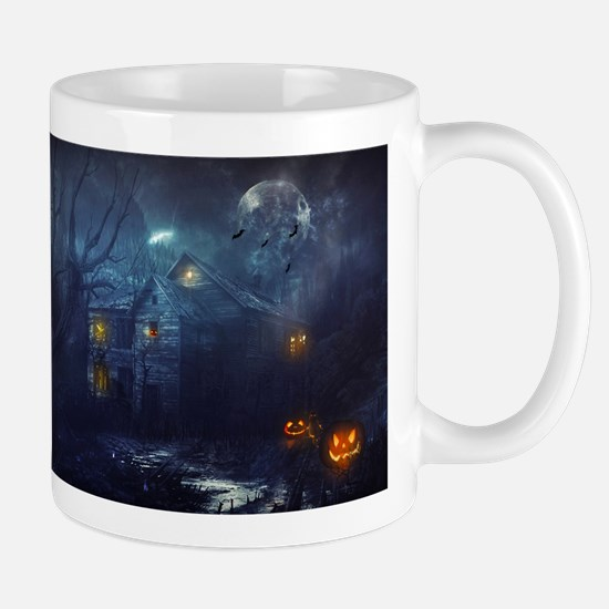 haunted house Stainless Steel Travel Mugs