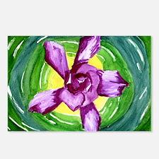 Purple Propeller Gardenia Postcards (Package of 8)