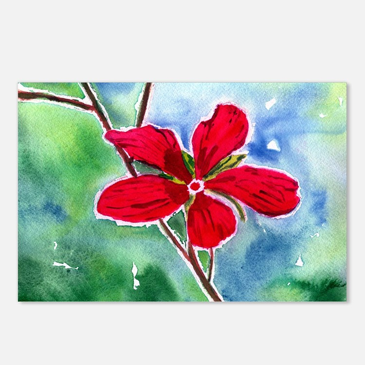 Scarlet Mallow Postcards (Package of 8)