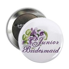 Floral Junior Bridesmaid Button