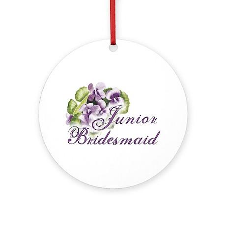 Floral Junior Bridesmaid Ornament (Round)