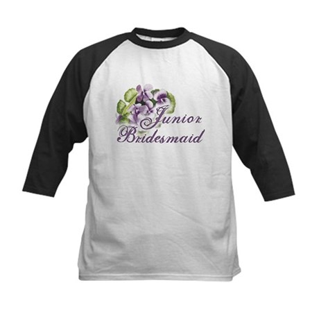 Floral Junior Bridesmaid Kids Baseball Jersey