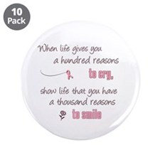 """Thousand Reasons to Smile 3.5"""" Button (10 pac"""