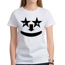 Stary Eyed Face Womens T-shirt Front and Back