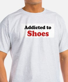 Addicted to Shoes Ash Grey T-Shirt