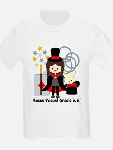 Custom Brunete Girl Magician T-Shirt