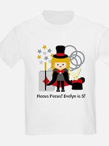 Blond Girl Magician Custom T-Shirt