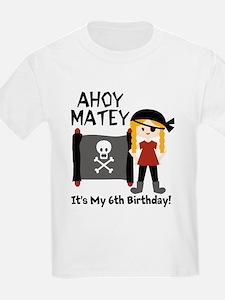 Blond Girl Pirate Custom T-Shirt