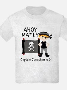 Blond Boy Pirate Customized T-Shirt