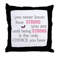 Never Know How Strong Throw Pillow