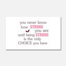 Never Know How Strong Car Magnet 20 x 12