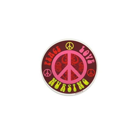 Peace, Love, Nursing Mini Button