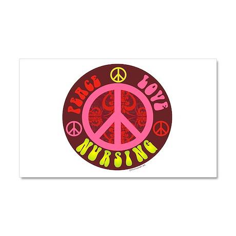 Peace, Love, Nursing Car Magnet 20 x 12