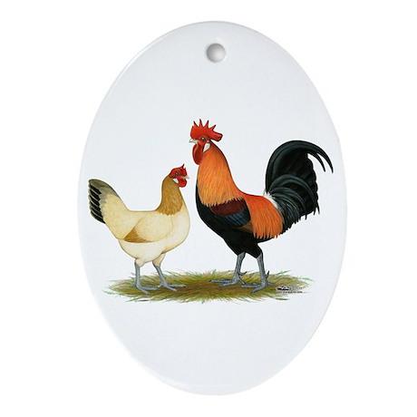 Penedesenca Chickens Ornament (Oval)
