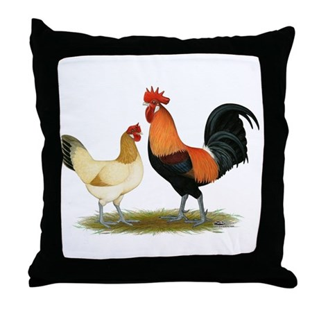 Penedesenca Chickens Throw Pillow