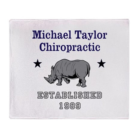 Michael Taylor Chiropractic Throw Blanket