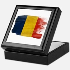 Romania Flag Keepsake Box