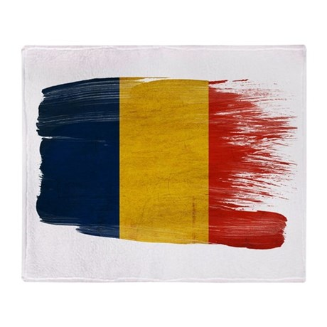 Romania Flag Throw Blanket