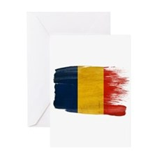Romania Flag Greeting Card