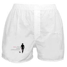 Real Men Own Chihuahuas Boxer Shorts