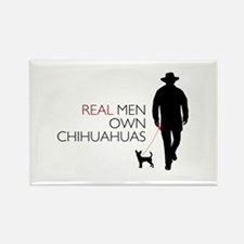 Real Men Own Chihuahuas Rectangle Magnet (10 pack)