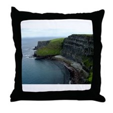 Cliff's of Moher Throw Pillow