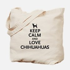 Keep Calm Chihuahuas Tote Bag