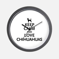Keep Calm Chihuahuas Wall Clock