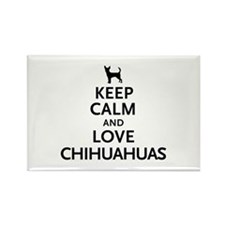 Keep Calm Chihuahuas Rectangle Magnet (10 pack)