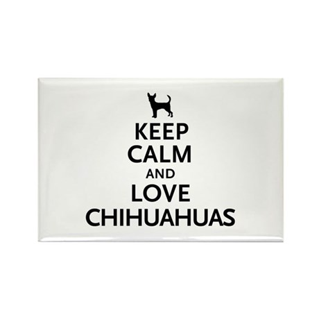 Keep Calm Chihuahuas Rectangle Magnet (100 pack)