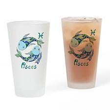 Astrology Zodiac Pisces Drinking Glass
