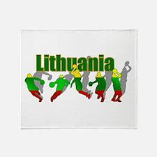 Lithuanian Basketball Throw Blanket