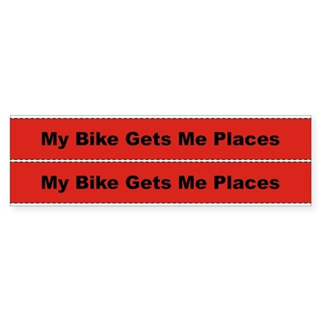 My Bike Gets Me Places Frame Sticker